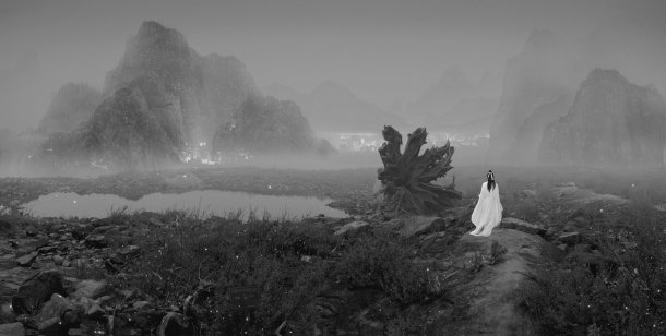 yang-yongliang-silent-valley-a-wolf-and-landmines-edition-of-8-led-light-box-or-giclee-print-on-paper-66-x-132-cm-2012-hr-