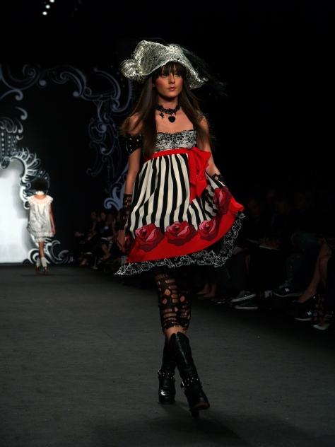 Anna Sui, Silk Party Dress from the Pirate Collection, Spring 2007, photographed by Thomas Lau