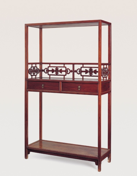 A bookshelf made from huanghuali Jiangnan • Late 18th Century