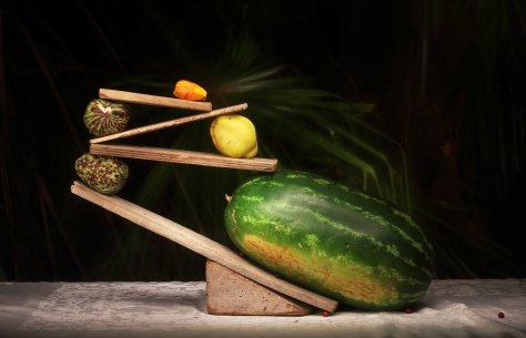 melon and quince in balance